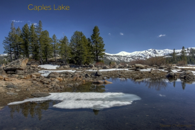 Caples Lake, Ebbetts Pass, California. This is a little bay in the lake the lakes is MUCH larger.